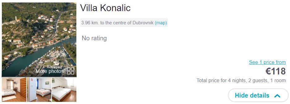 Dubrovnik - iz Zagreba 68 EUR - namestitev