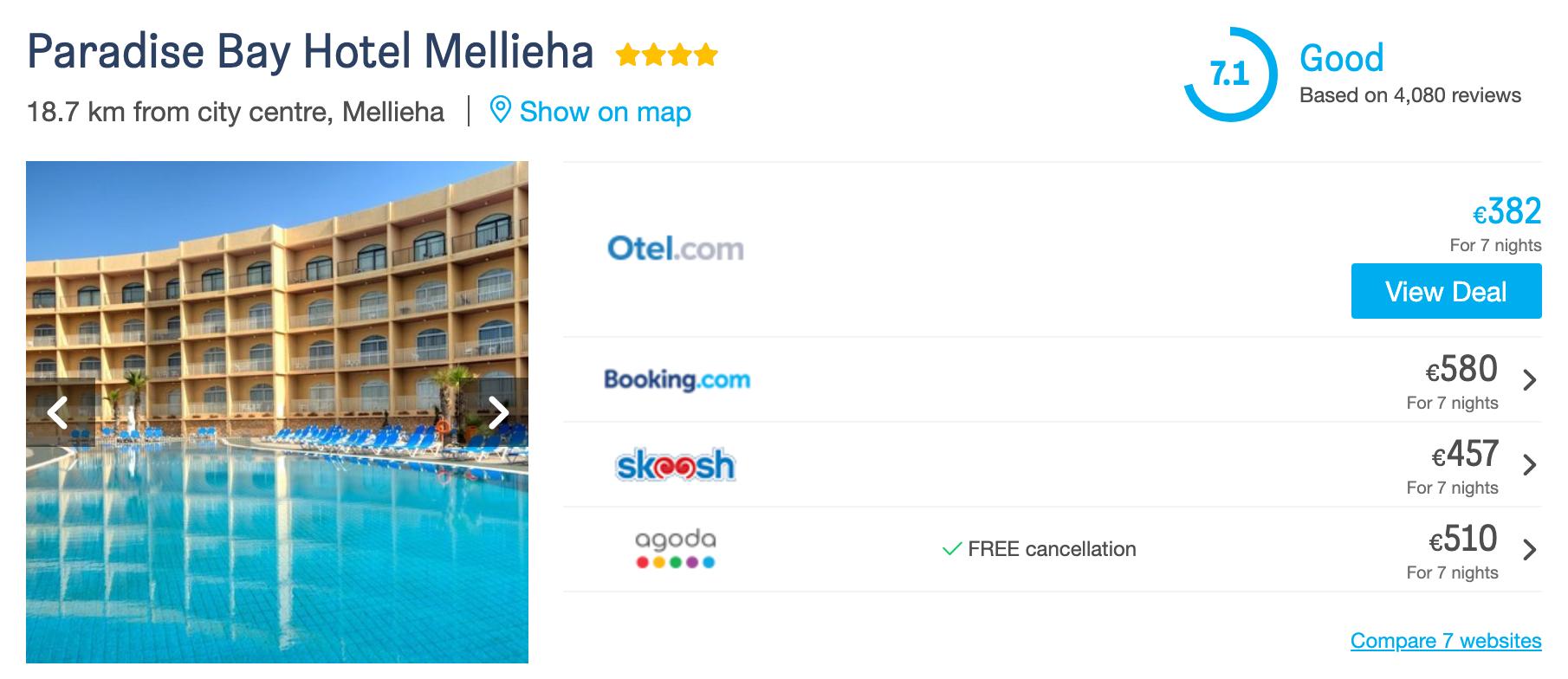 Malta 2020 Maj Hotel
