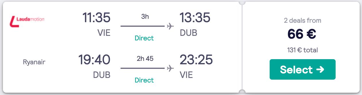 Letalske karte - Dublin 2020 april