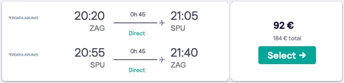 Split 2020 - Letalska karta